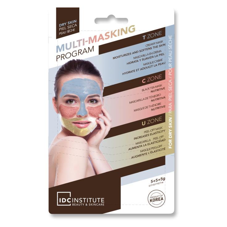 idc multi masking mascarilla facial 3 en 1 multizonas piel secas monodosis