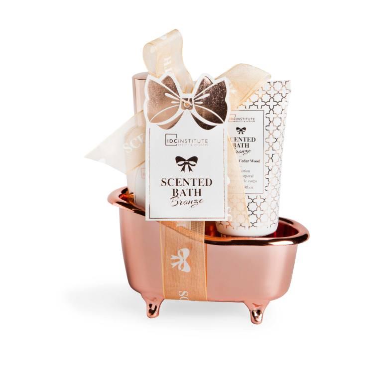 idc institute mini cesta de baño scented bath bronze 2 piezas