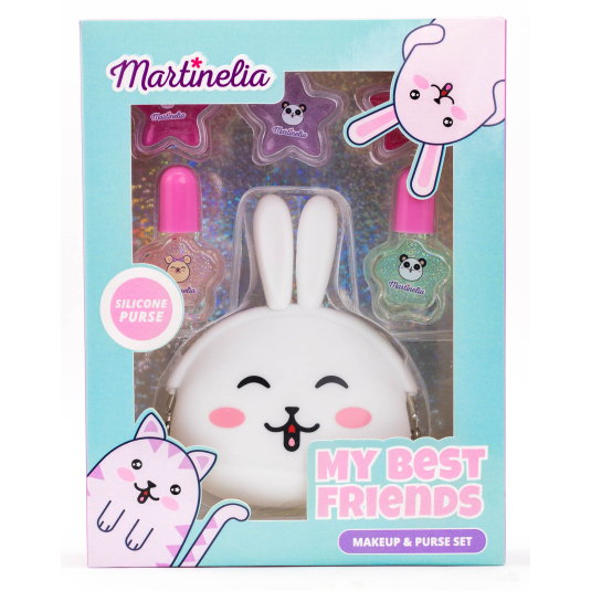 martinelia my best friend rabbit set set maquillaje infantil+ cartera