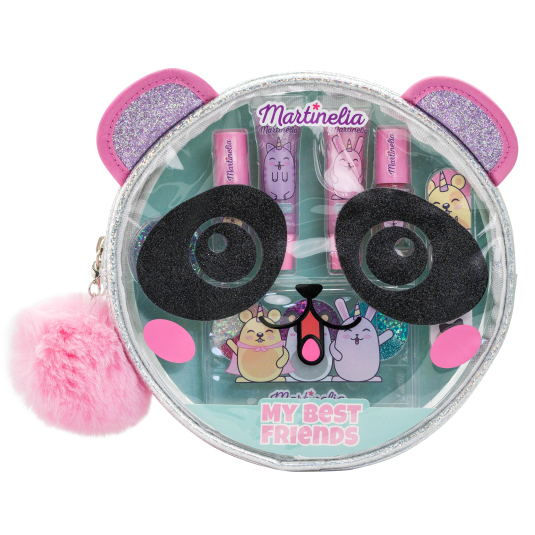 martinelia my best friend panda set maquillaje infantil + neceser
