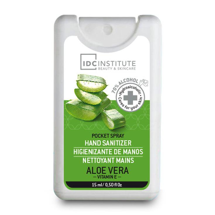 idc institute hand gel sanitiner gel higienizante manos aloe vera spray 15ml