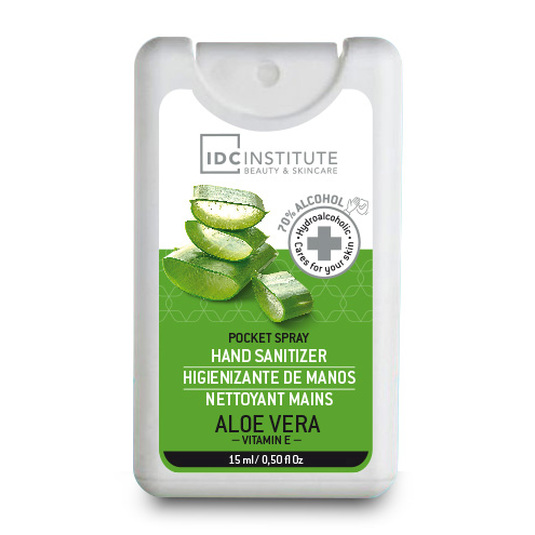 idc institute hand gel sanitiner gel higienizante manos aloe vera spray 15ml