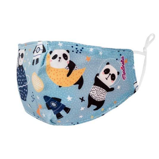 martinelia mascarilla reutilizable para niños panda