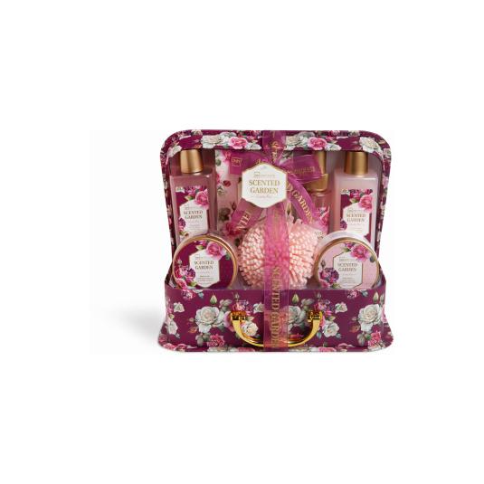 idc inst. cesta de baño scented garden case 7 piezas