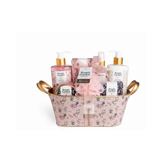 idc inst. cesta de baño beauty garden basket 7 piezas