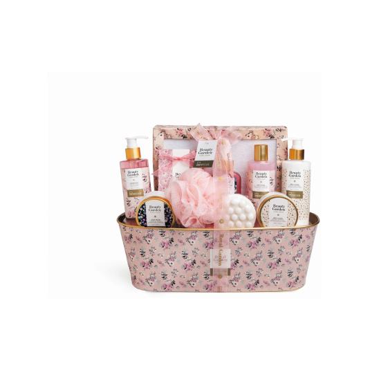 idc inst. cesta de baño beauty garden basket 10 piezas