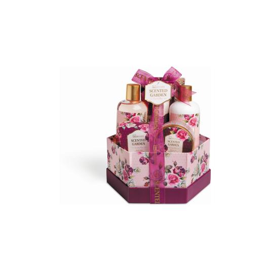 idc inst. cesta de baño scented garden box 7 piezas