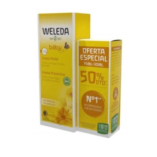 weleda crema calendula pañal bebe 75ml+30ml gratis