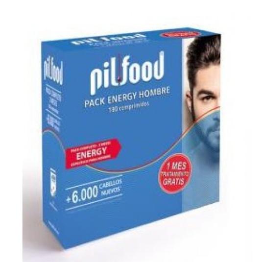 pilfood energy tratamiento anticaída cabello hombre 3 meses 180 comp