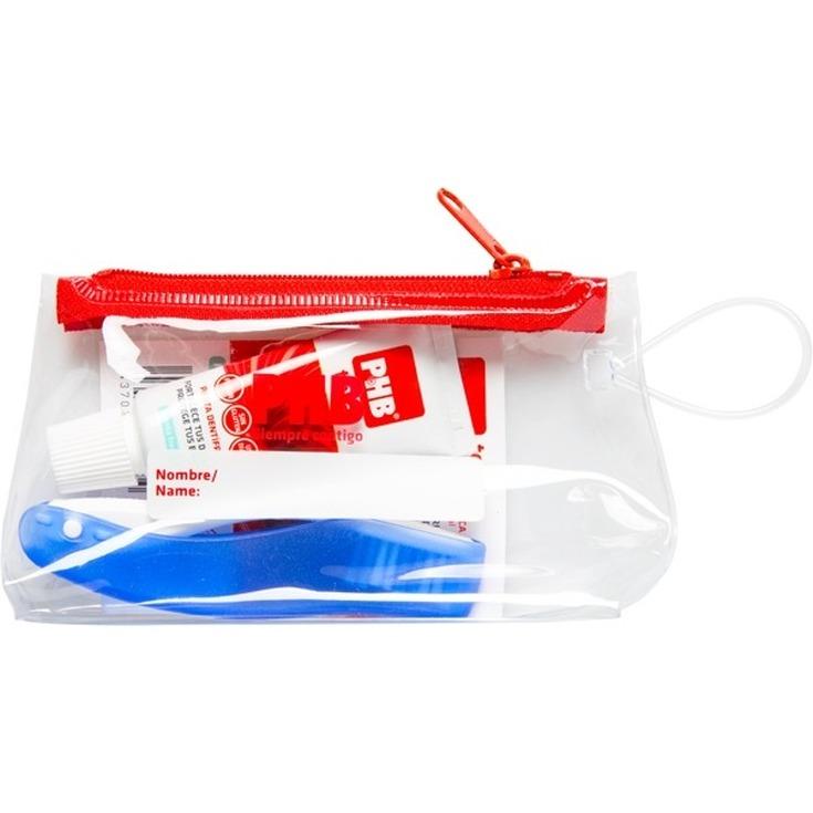 phb kit bucal de viaje cepillo de dientes + pasta de dientes total 15ml