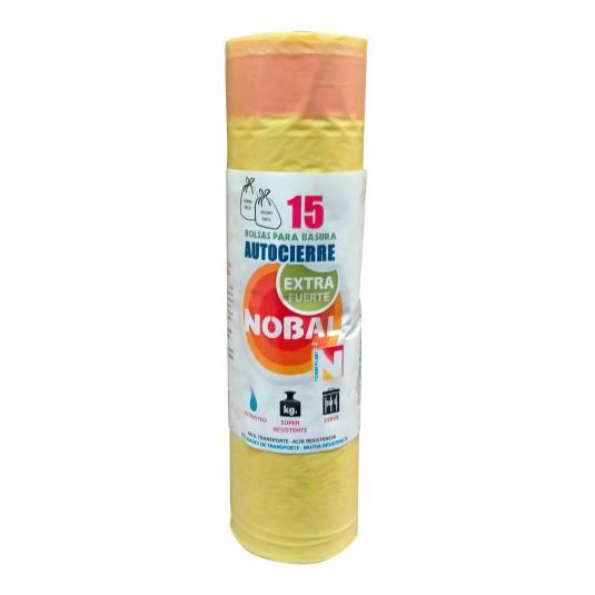 nobal bolsa amarilla 55x55 15 undiades