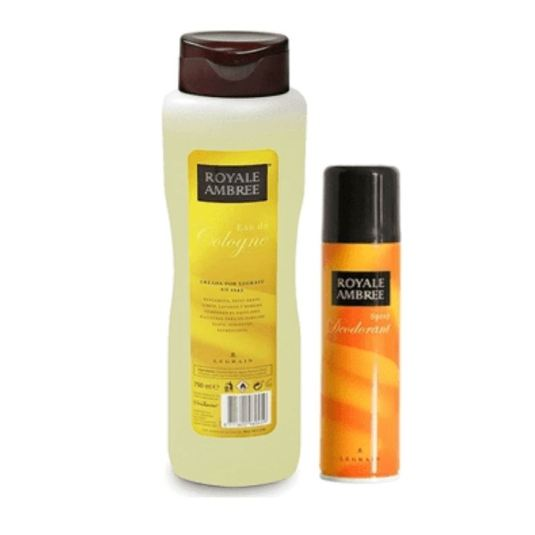 royale ambree colonia 750ml + royale ambree desodorante 250ml