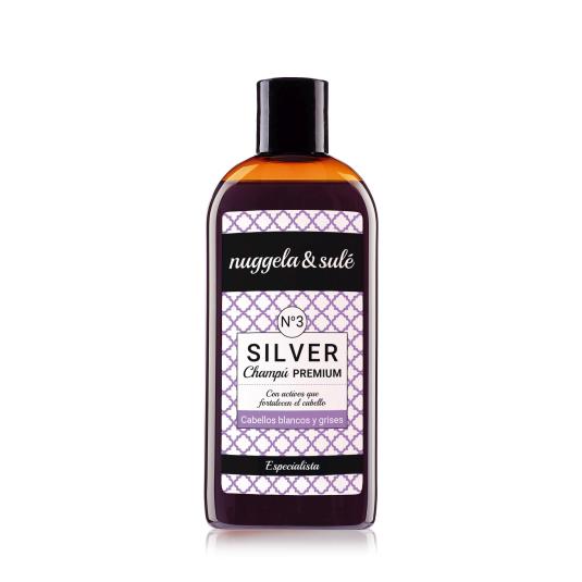 nuggela & sule champú nº3 silver cabellos blancos o grises250ml