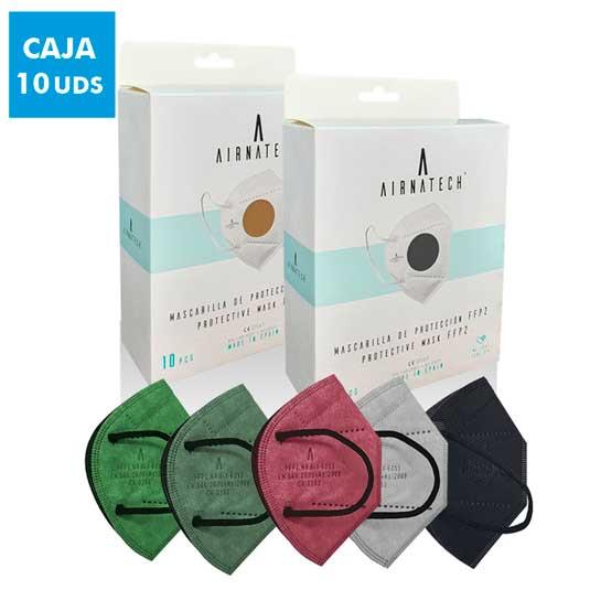 mascarillas airnatech ffp2 de colores caja 10 unds