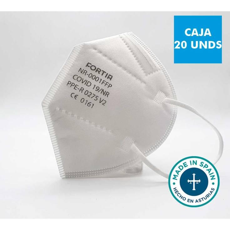 mascarilla protectora covid19 blanca homologada 20 unidades
