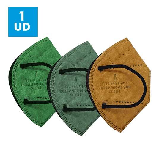 mascarilla airnatech ffp2 de colores 1 unidad