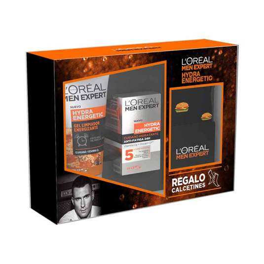 loreal men expert hydra energetic set tratamiento facial 3 piezas