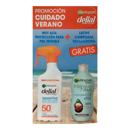 delial factor 50 pistola sensitive 300 + body garnier
