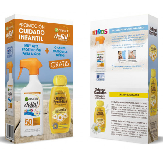 delial factor 50 pistola kids 300 + champú or. remedies camomila