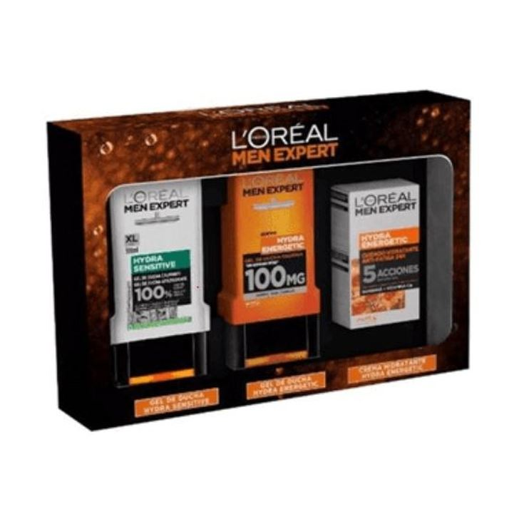 loreal men expert hydra energetic anti-fatiga set 3 piezas