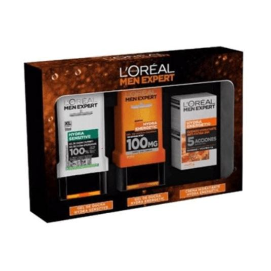 loreal men expert hydra energetic anti-fatiga set 3 piezas