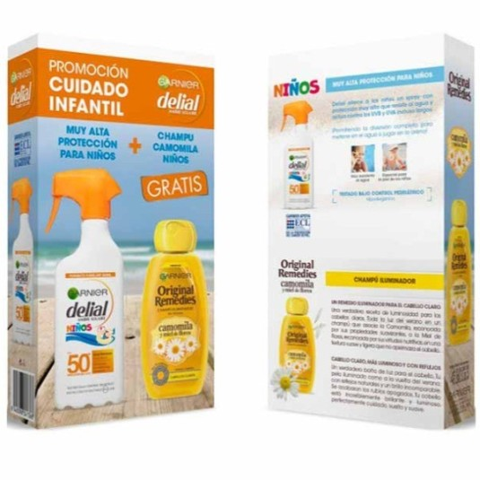 delial niños sensitive advance spf50+ 300ml + o.r champu camomila gratis