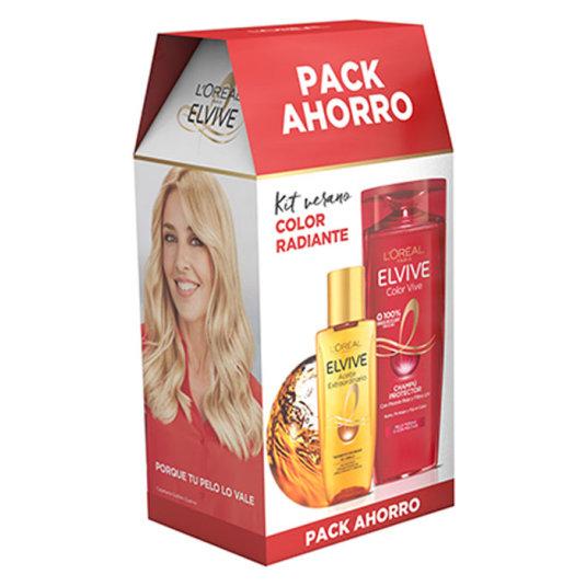 pack elvive color vive champu + mini aceite extraordinario regalo