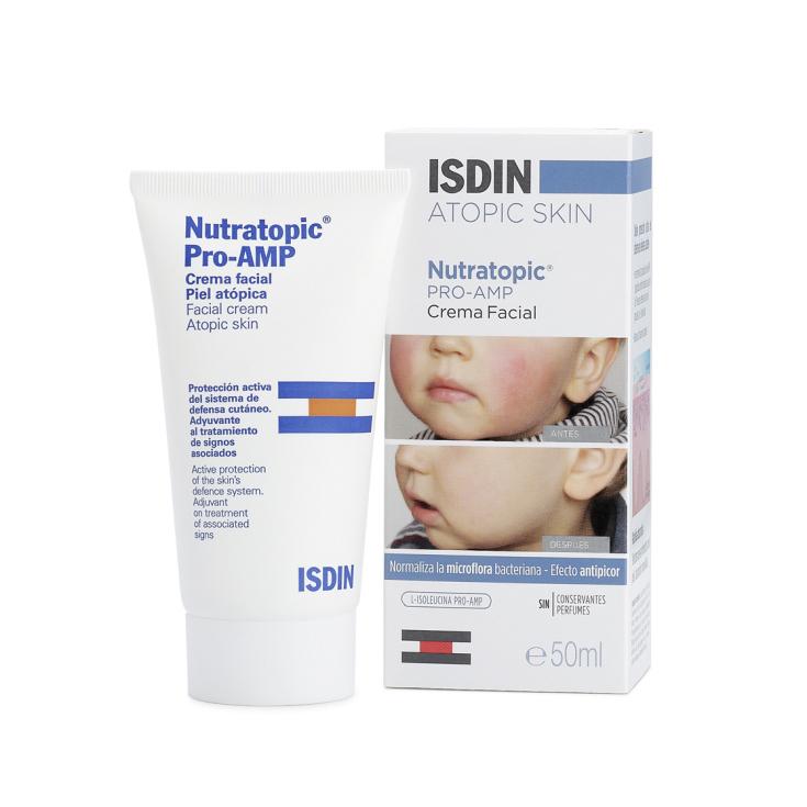 isdin nutratopic pro-amp crema facial piel atópica 100ml