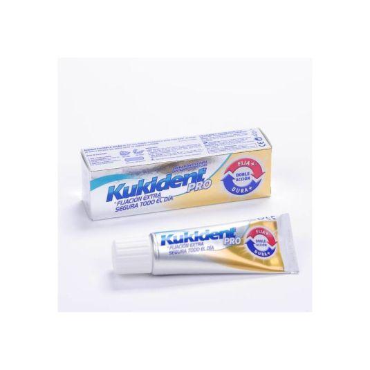 kukident pro doble accion crema adhesiva sabor neutro 40g
