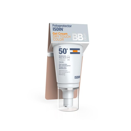 isdin fotoprotector facial gel cream dry touch color spf50+50ml