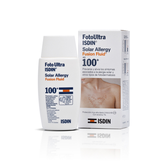 isdin fotoprotector corporal ultra 100 solar allergy fusion fluid spf50+50ml