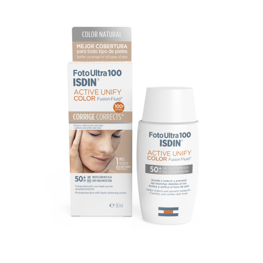 ISDIN FOTOPROTECTOR FACIAL ISDIN 100 ACTIVE UNIFY FUSION FLUID COLOR SPF50+ 50ML