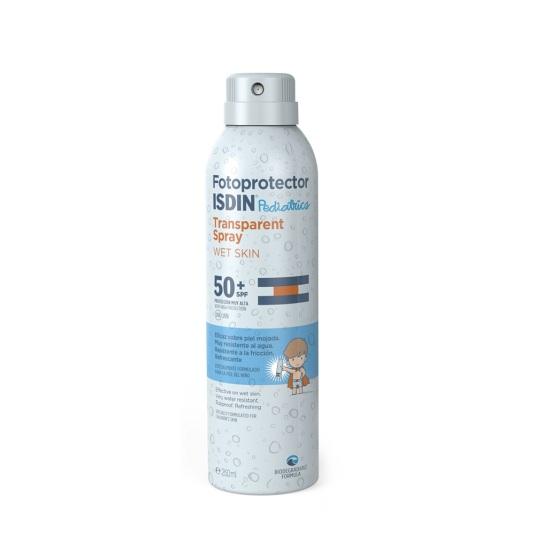 isdin fotoprotector corporal bebés-niños pediatrics spray wet skin spf 50+ 250ml