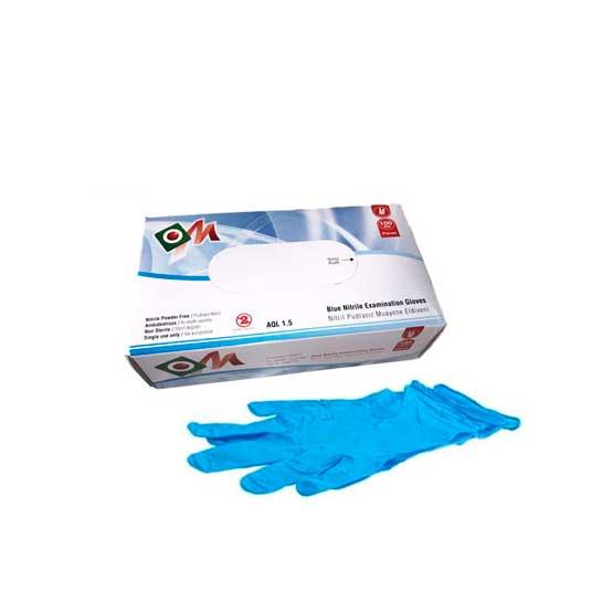 guante azul nitrilo talla m 100ud