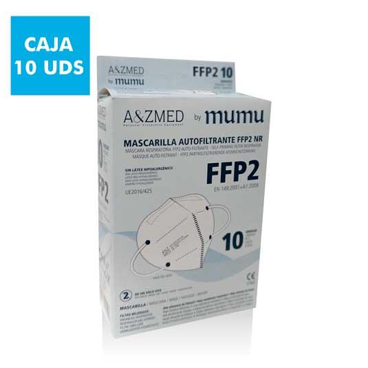 mumu mascarilla ffp2 nr autofiltrante adulto blanca caja 10 unidades