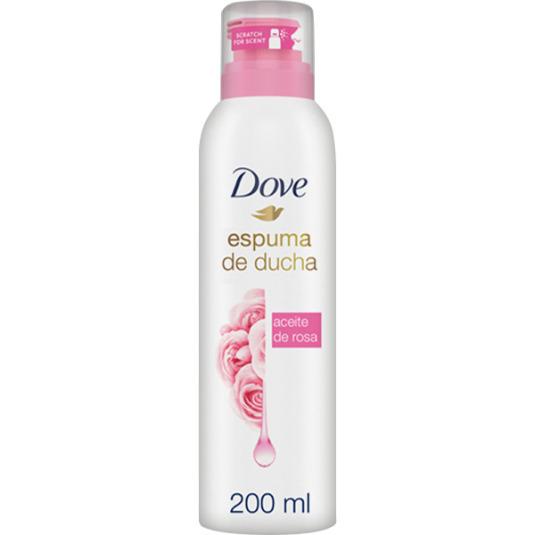 dove espuma de ducha con aceite de rosa 200ml