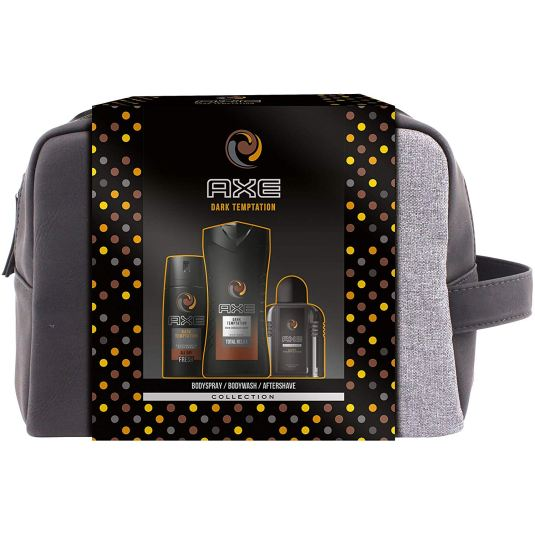 axe dark temptation kit para baño 3 piezas