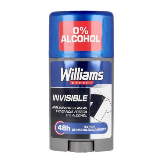 williams desodorante stick invisible 75ml
