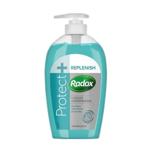 radox protect+ jabon liquido de manos anti-bacteriano dosificador 250ml