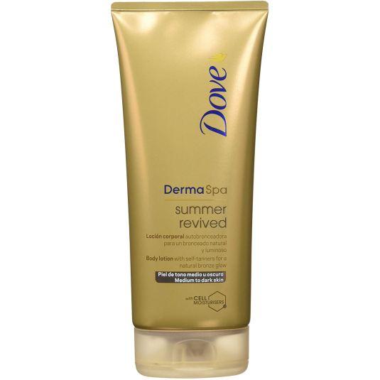 dove dermaspa summer revived locion corporal autobronceadora tono oscuro o medio 200ml