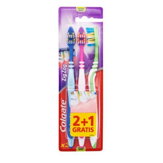 colgate cepillo dental zig zag medio 2+1 gratis