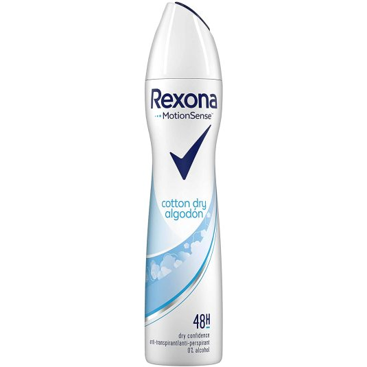rexona cotton dry algodon desodorante antitranspirante spray 200ml