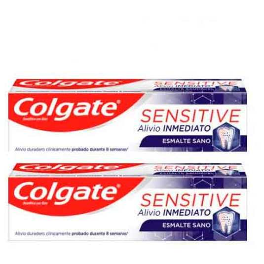 colgate sensitive alivio inmediato pasta dental duplo 2x75ml