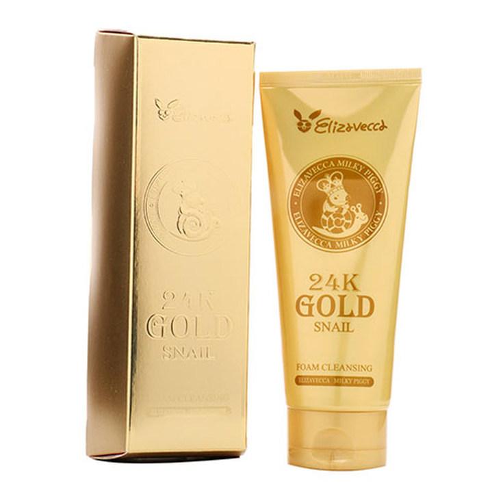 ELIZAVECCA 24K GOLD SNAIL LIMPIADOR FACIAL EN ESPUMA 180 ML