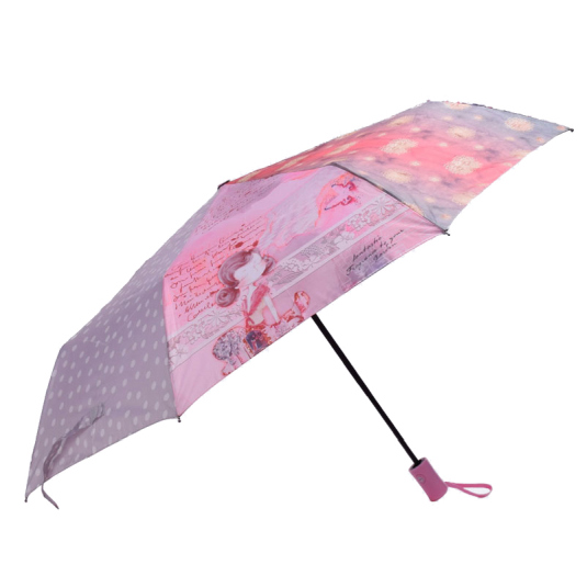 paraguas plegable automatico sweet candy girl pink