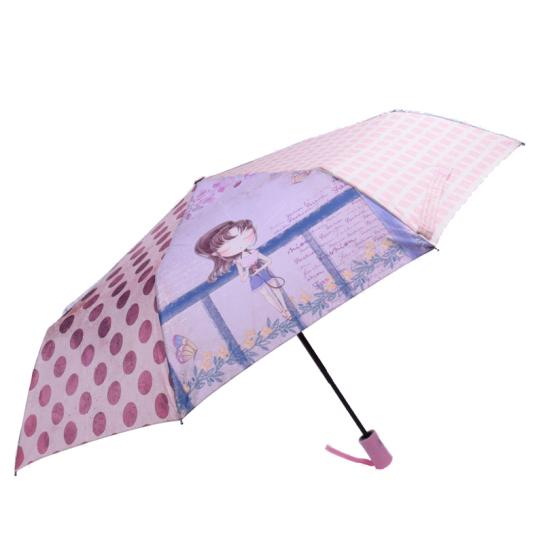 paraguas plegable automatico sweet candy girl lavander