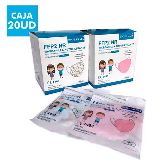 mascarilla ffp2 nr infantil cajas 20 unidades